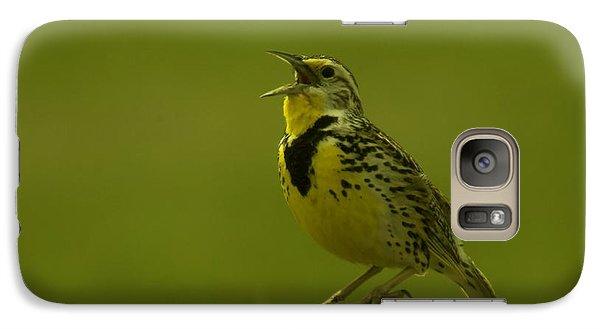 The Meadowlark Sings Galaxy S7 Case by Jeff Swan
