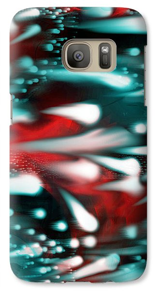 Galaxy Case featuring the painting The Race  by Yul Olaivar
