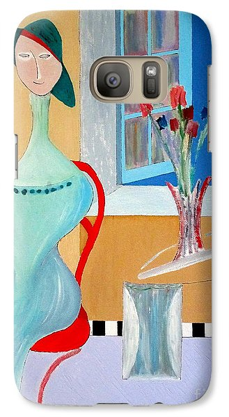 Galaxy Case featuring the painting The Red Chair by Bill OConnor