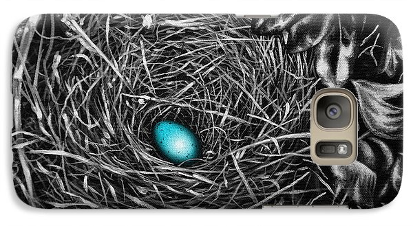 Galaxy Case featuring the painting The Robin's Egg by Craig T Burgwardt