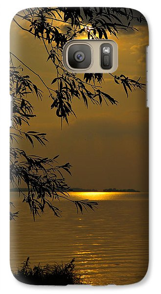 Galaxy Case featuring the photograph The Shining Light by Judy  Johnson