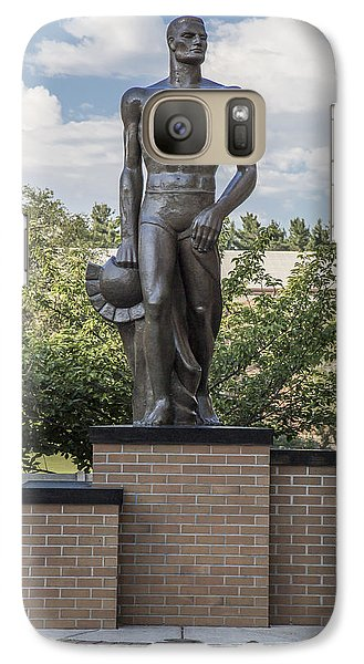 The Spartan Statue At Msu Galaxy Case by John McGraw