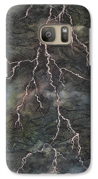 Galaxy Case featuring the painting The Storm by Chrisann Ellis