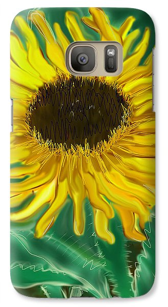 Galaxy Case featuring the painting The Sun Thief by Jean Pacheco Ravinski