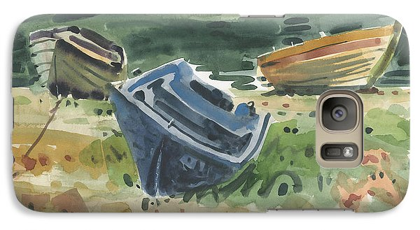 Galaxy Case featuring the painting Three Boats by Donald Maier