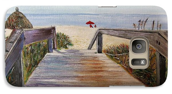 Galaxy Case featuring the painting To The Beach by Marilyn  McNish