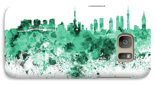 Tokyo Skyline In Watercolor On White Background Galaxy S7 Case