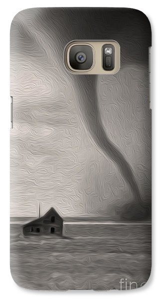 Galaxy Case featuring the digital art Tornado by Gregory Dyer