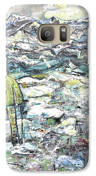 Galaxy Case featuring the painting Tranquility by Evelina Popilian