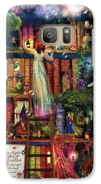 Treasure Hunt Book Shelf Galaxy S7 Case by Aimee Stewart