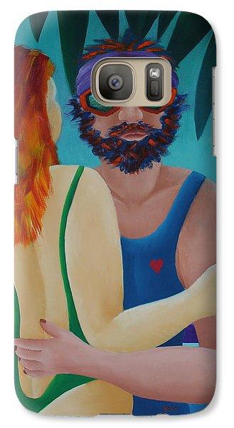 Galaxy Case featuring the painting Tropical Dance by Karin Eisermann