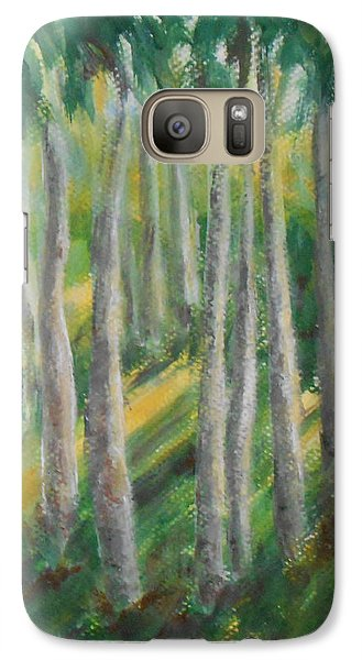 Galaxy Case featuring the painting Tropical by Jane  See