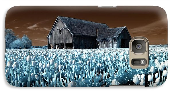 Galaxy Case featuring the photograph Tulip Barn by Rebecca Parker