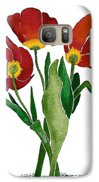 Galaxy Case featuring the painting Tulip Trio by Nan Wright