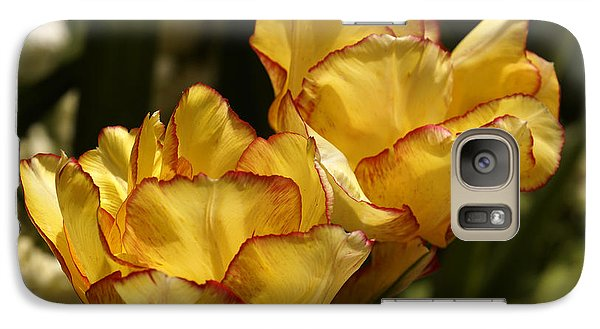 Galaxy Case featuring the photograph Tulips by Inge Riis McDonald