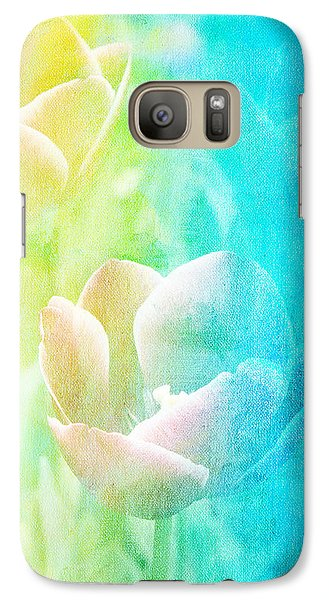 Galaxy Case featuring the photograph Tulips by James Bethanis