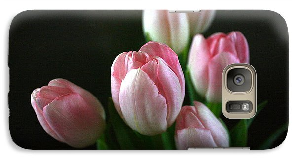 Galaxy Case featuring the photograph Tulips On Display by Cathy Dee Janes