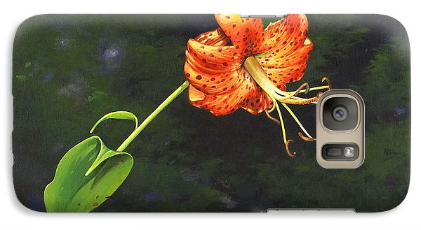 Galaxy Case featuring the painting Turk's Cap by Bob  George