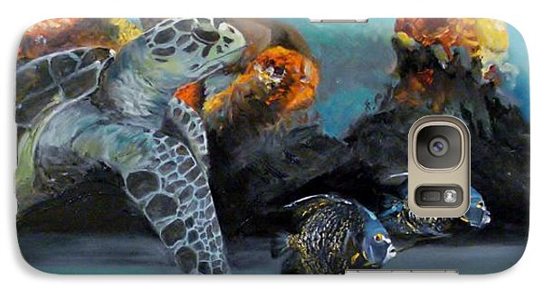 Galaxy Case featuring the painting Underwater Beauty by Donna Tuten
