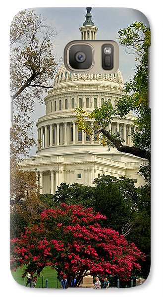 Galaxy Case featuring the photograph United States Capitol by Suzanne Stout