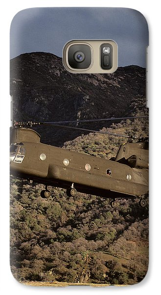 Helicopter Galaxy S7 Case - Usa, California, Chinook Search by Gerry Reynolds