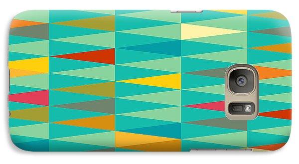 Magician Galaxy S7 Case - Vector Abstract Geometric Triangle by Babayuka
