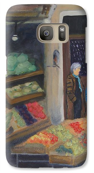 Galaxy Case featuring the painting Venice Fruit Market by Kristine Bogdanovich