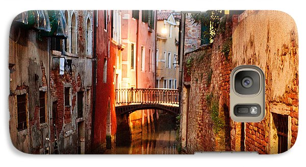Galaxy Case featuring the photograph Venice Italy Canal by Kim Fearheiley