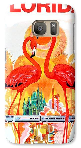 Vintage Florida Travel Poster Galaxy S7 Case by Jon Neidert