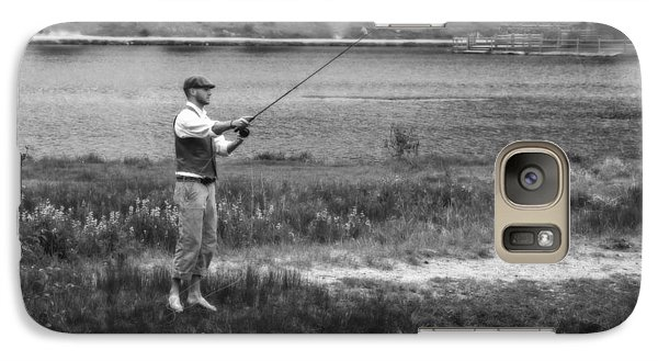 Galaxy Case featuring the photograph Vintage Fly Fishing by Ron White