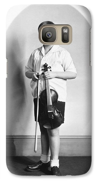 Violin Galaxy S7 Case - Violinist Yehudi Menuhin by Underwood Archives