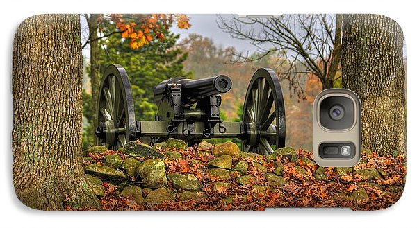 Galaxy Case featuring the photograph War Thunder - The Charlotte North Carolina Artillery Grahams Battery West Confederate Ave Gettysburg by Michael Mazaika