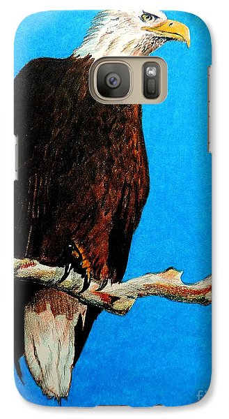 Galaxy Case featuring the painting Watchful Eye by Tom Riggs