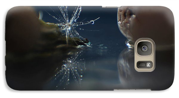 Galaxy Case featuring the photograph Water Droplets by Eden Baed