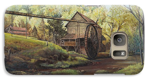 Galaxy Case featuring the painting Watermill At Daybreak  by Mary Ellen Anderson