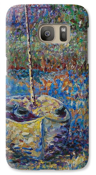 Galaxy Case featuring the painting We Sail At Dawn by Ellen Anthony