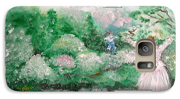 Galaxy Case featuring the painting Welcome Home Love by Laurie L