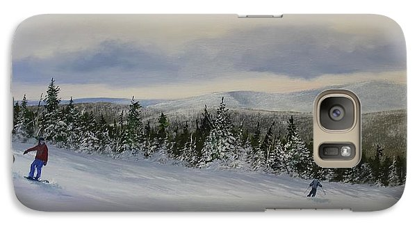 Galaxy Case featuring the painting West Meadow by Ken Ahlering
