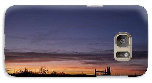 West Texas Sunset Galaxy S7 Case by Melany Sarafis
