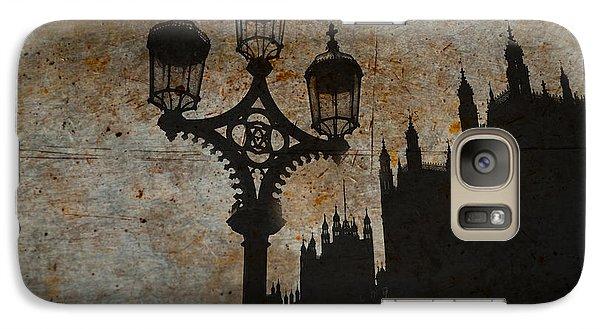 Galaxy Case featuring the digital art Westminster Silhouette by Matt Malloy