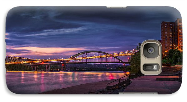 Galaxy Case featuring the photograph Wheeling Suspension Bridge  by Mary Almond