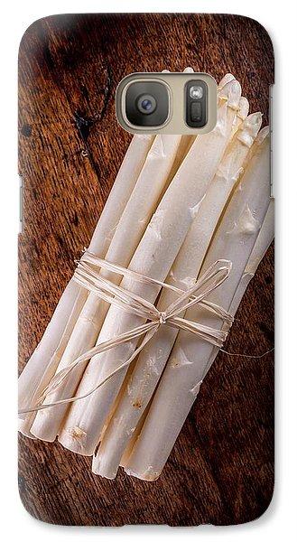 White Asparagus Galaxy S7 Case by Aberration Films Ltd