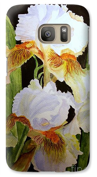 Galaxy Case featuring the painting White Iris by Carol Grimes