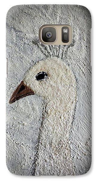 Galaxy Case featuring the painting White Peacock by Jasna Gopic