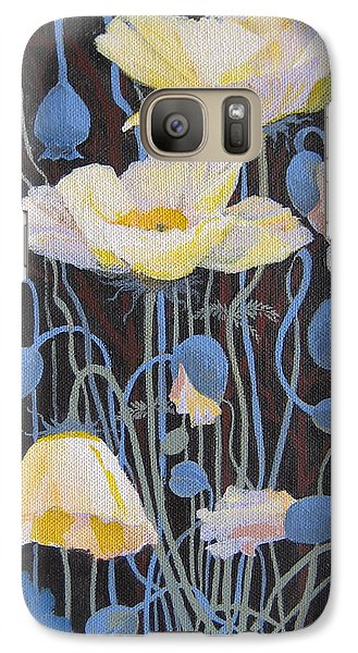 Galaxy Case featuring the painting White Poppies by Marina Gnetetsky