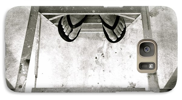 Galaxy Case featuring the photograph Who's Feet In Black And White by Paul Cammarata