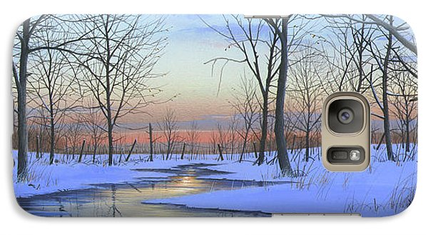 Galaxy Case featuring the painting Winter Calm by Mike Brown