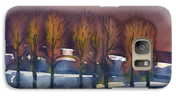 Galaxy Case featuring the painting Winter Fantasy by Donald Maier