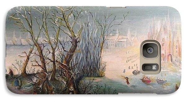 Galaxy Case featuring the painting Winter Scene by Egidio Graziani