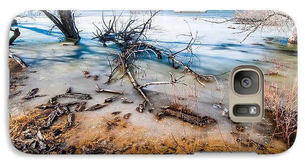 Galaxy Case featuring the photograph Winter Shore At Barr Lake by Tom Potter
